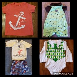 Bundle of 4pc Baby Boy clothes 12-18 Months